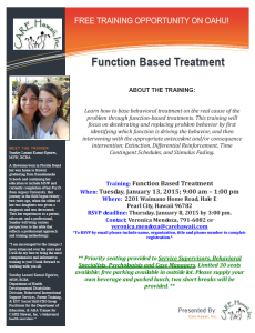 Function Based Treatment Training