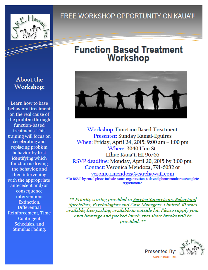 Function Based Treatment April 24