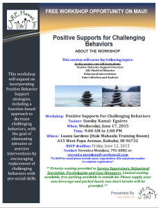 Maui: Positive Supports for Challenging Behaviors