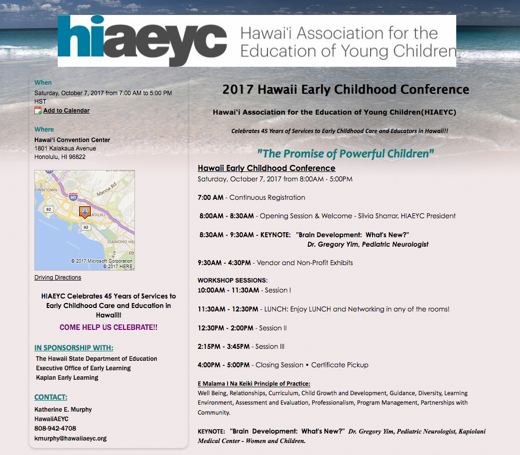 HAEYC Conference